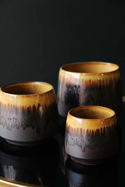 Rust Stoneware Flower Pot