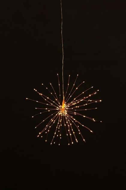 Small Pretty Wire Starburst Light  - 2 Colours Available