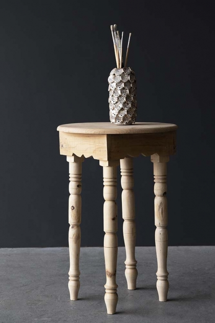 Traditional Moroccan Side Table - Natural