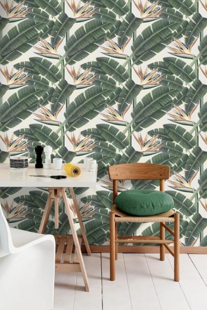 Mind The Gap Tropical Bloom Wallpaper