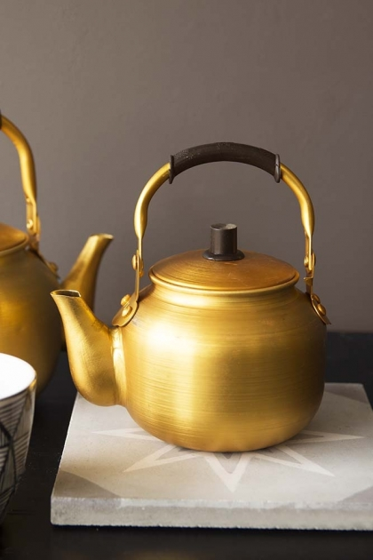 Vintage Style Gold Teapot - 2 Sizes Available