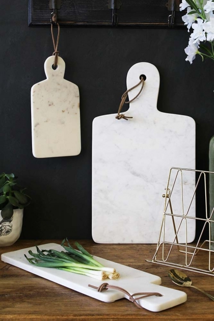 White Marble Paddle Chopping Board - Available in 3 Sizes