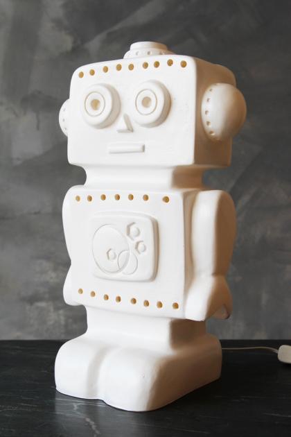 White Robot Lamp