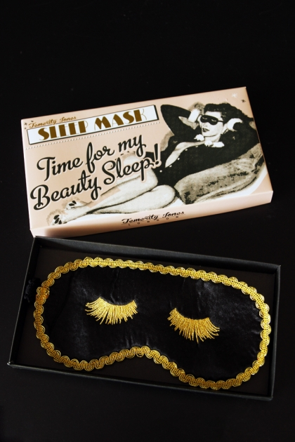 Black & Gold Boudoir Eye Mask