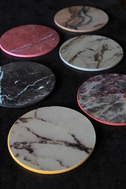 Set Of Six Marble Effect Coasters