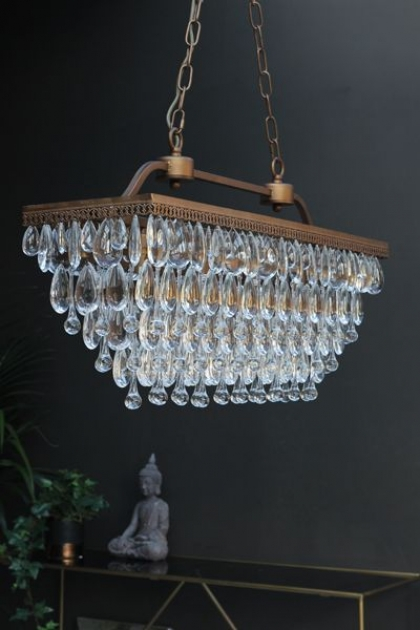 Stunning Crystal Droplets Chandelier