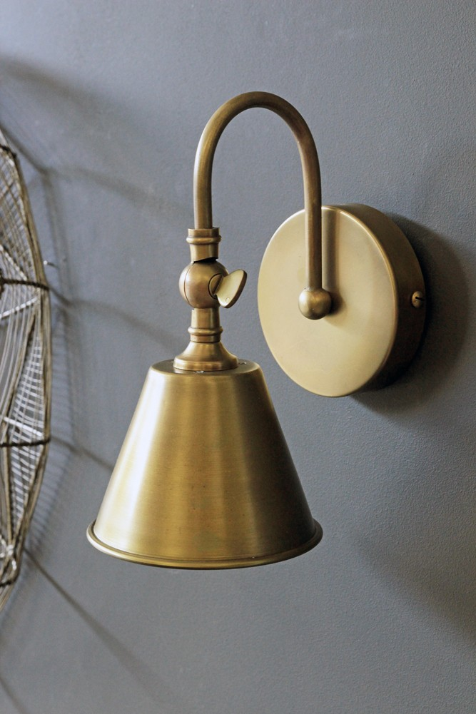 Beautiful brass wall light from rockett st george beautiful brass wall light aloadofball Choice Image