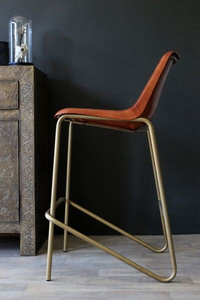 Brown Leather Bar Stool with Brass Effect Legs : brown leather bar stool with brass effect legs 3 43056 p from www.rockettstgeorge.co.uk size 400 x 600 jpeg 39kB