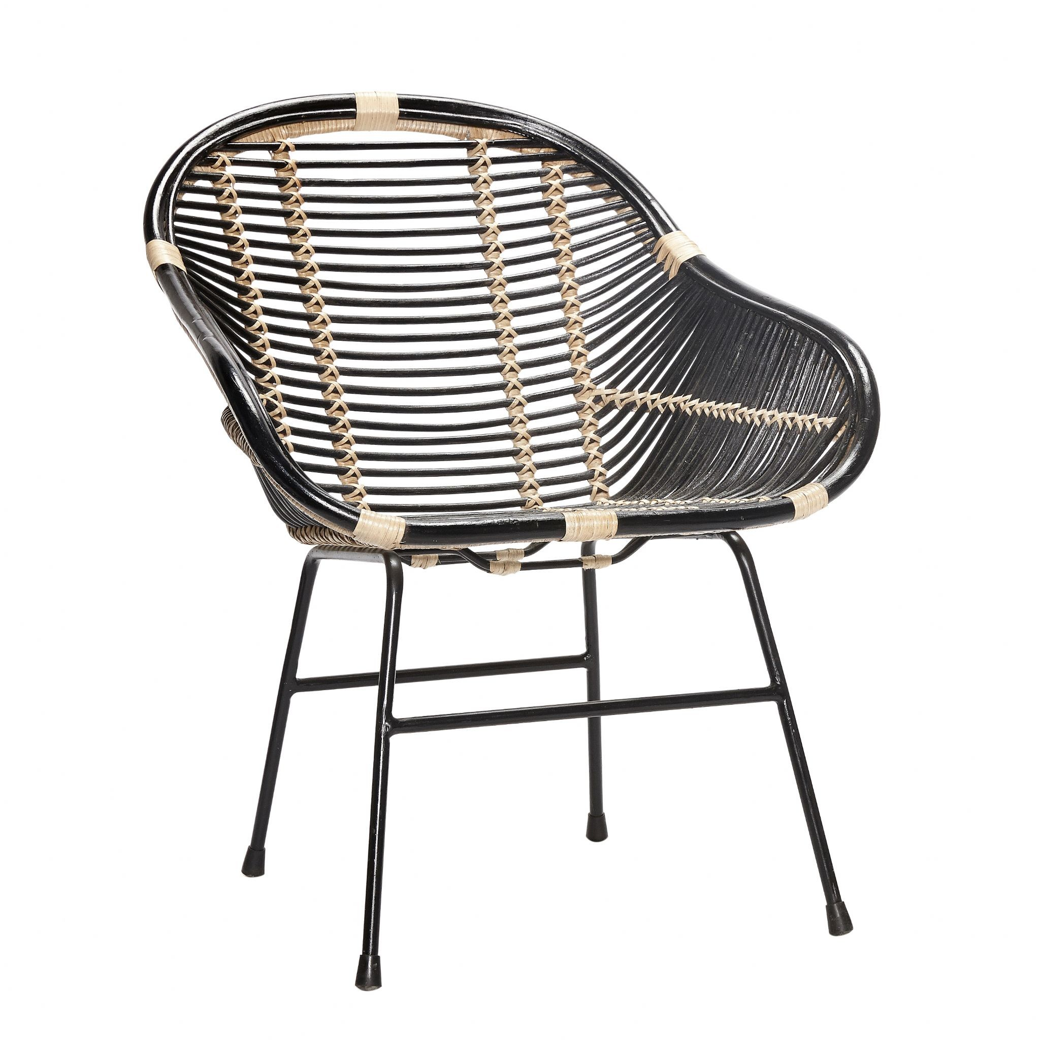 capri black natural rattan chair furniture