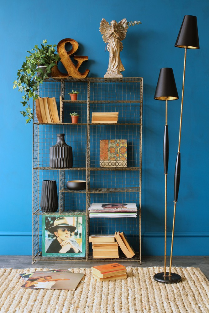Standing Industrial Brass Storage Rack