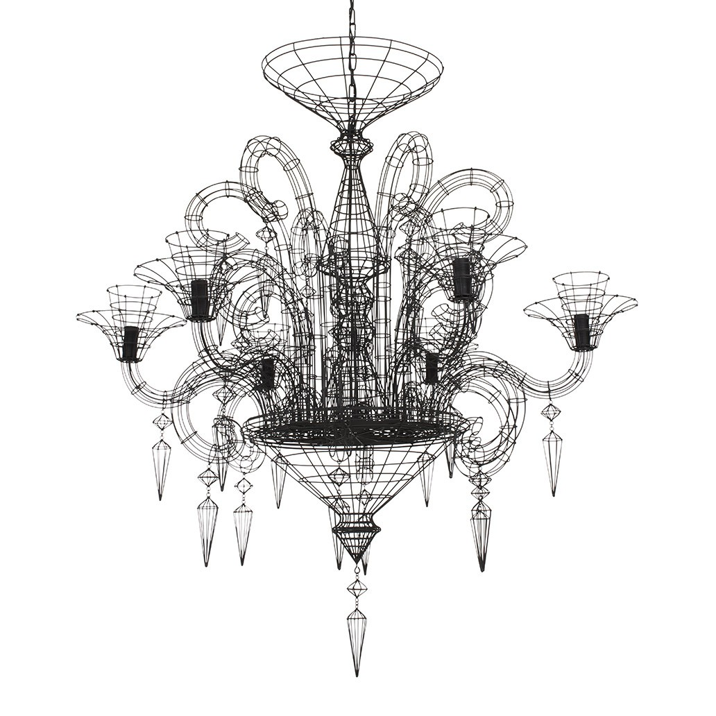 Angelus shadow black wire chandelier aloadofball
