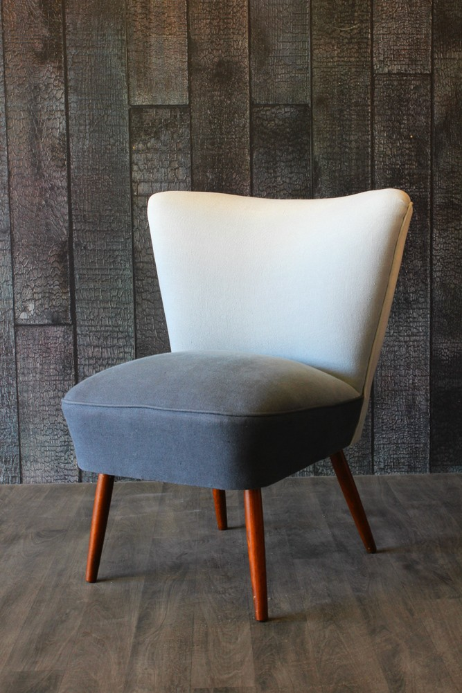 Ombre cocktail chair grey blue for Design furniture replica uk blue