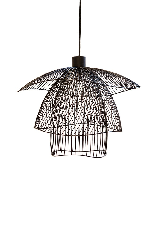 Papillon pendant lamp for Suspension metal noir