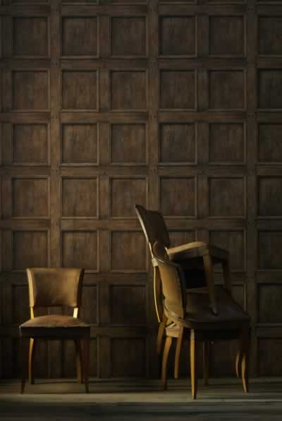 Light Wood Paneling: Engineer Collection Regent Oak Wood Panelling Wallpaper