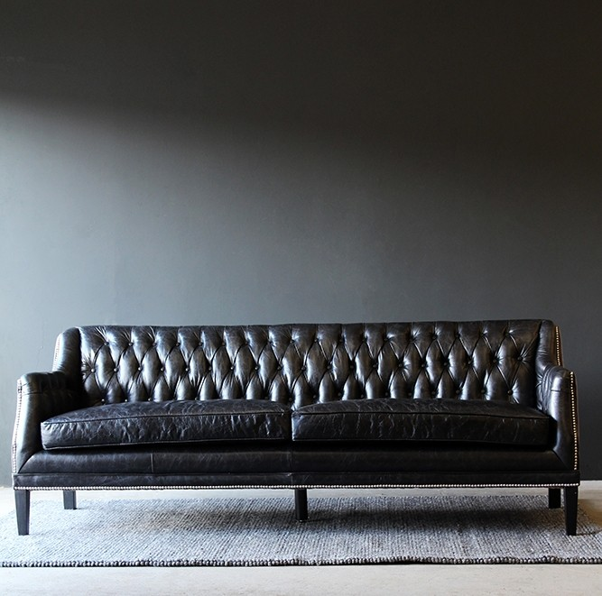 black leather chesterfield sofa from rockett st george