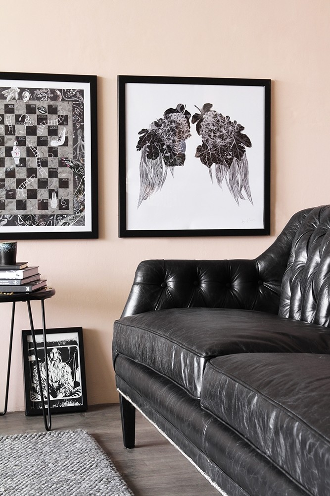 black leather chesterfield sofa from rockett st george. Black Bedroom Furniture Sets. Home Design Ideas