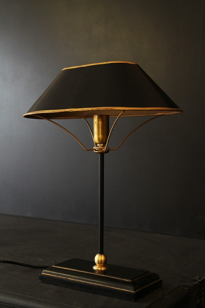 Black gold table lamp