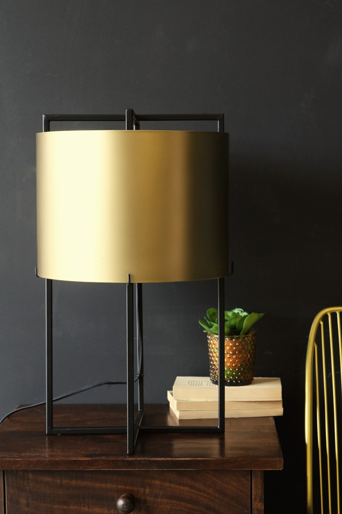 Asymmetric Shiny Brass Lamp Shade Rockett St George