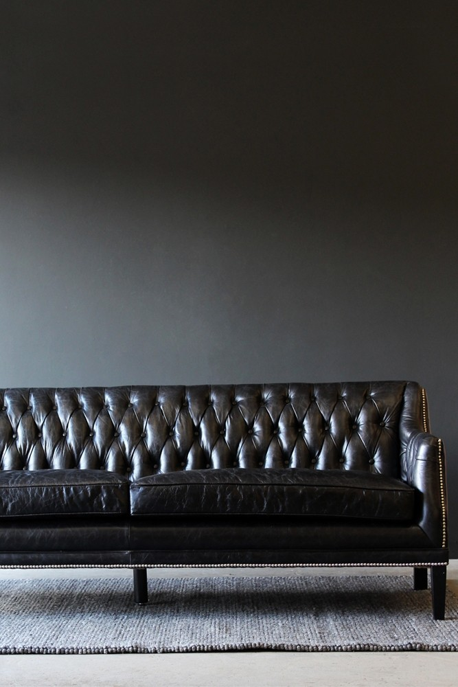 black leather chesterfield sofa large from rockett st george. Black Bedroom Furniture Sets. Home Design Ideas