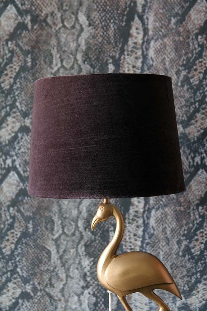 Chocolate brown sumptuous velvet lamp shade available in 3 sizes