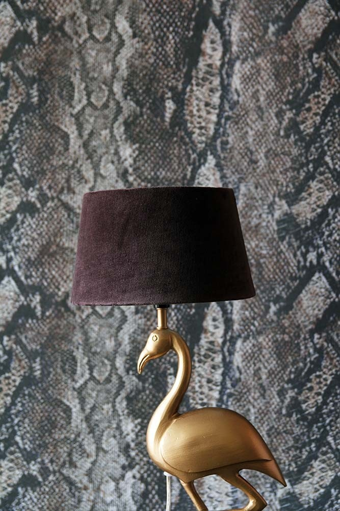 Chocolate brown sumptuous velvet lamp shade from rockett st george chocolate brown sumptuous velvet lamp shade available in 3 sizes mozeypictures Image collections