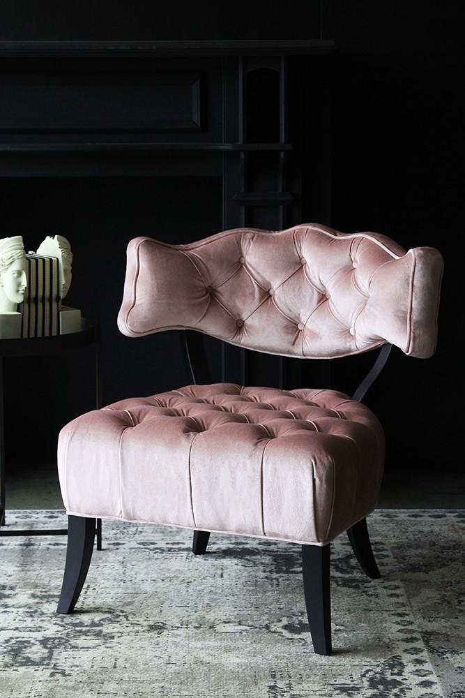 Cloud Velvet Chair   Blush Pink