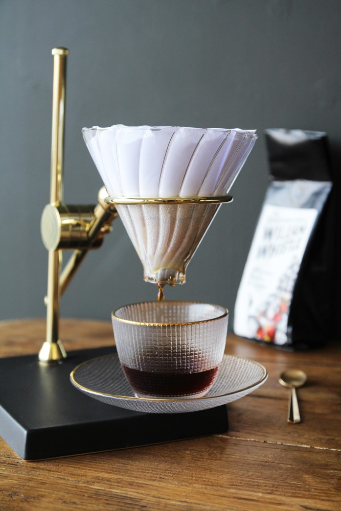 Drip Coffee Maker Stand : Coffee Drip Stand, Gold, Glass