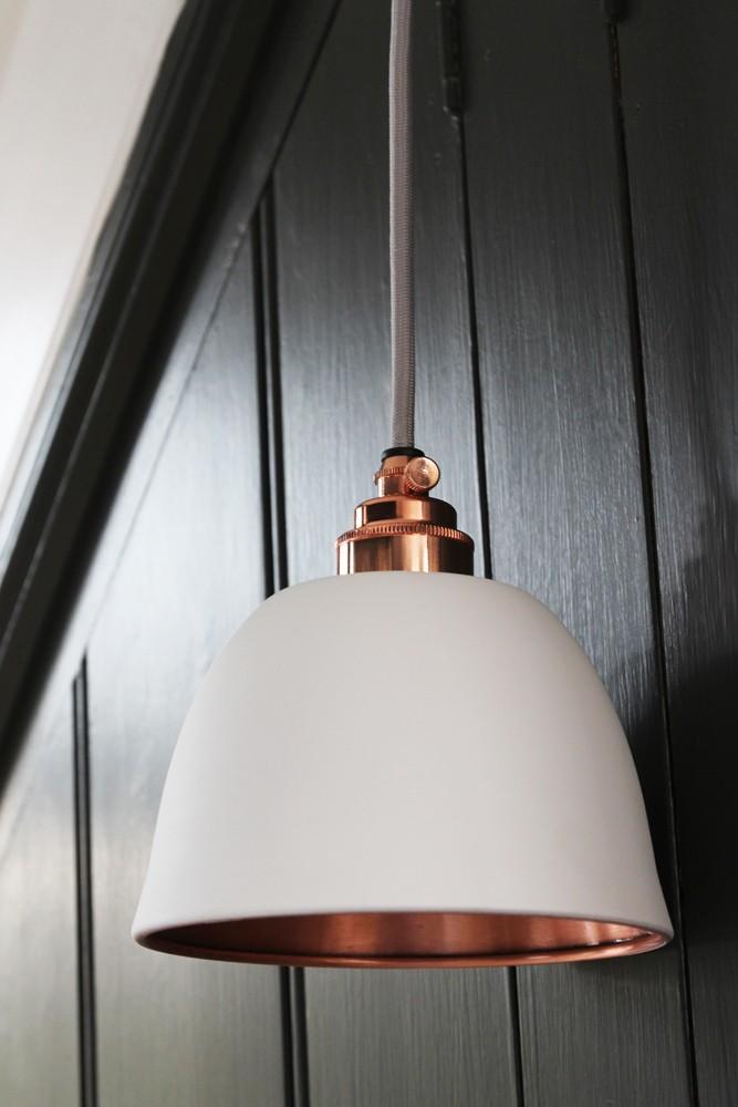 Miniture bell copper matte white ceiling light from rockett st george miniature bell copper matte white ceiling light aloadofball Image collections