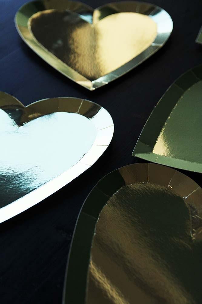 Gold Heart Paper Plates & Gold Heart Paper Plates from Rockett St George