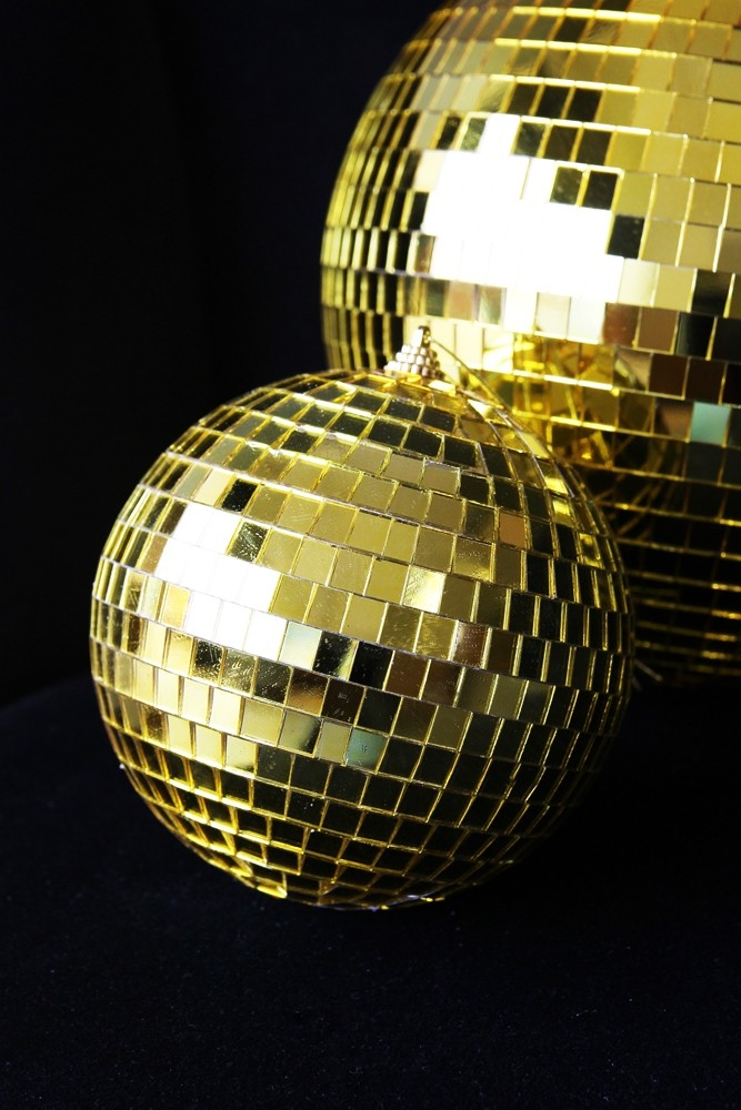 Golden Disco Ball Decoration From Rockett St George