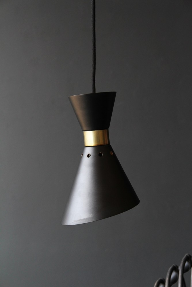 Grace Black U0026 Gold Pendant Light