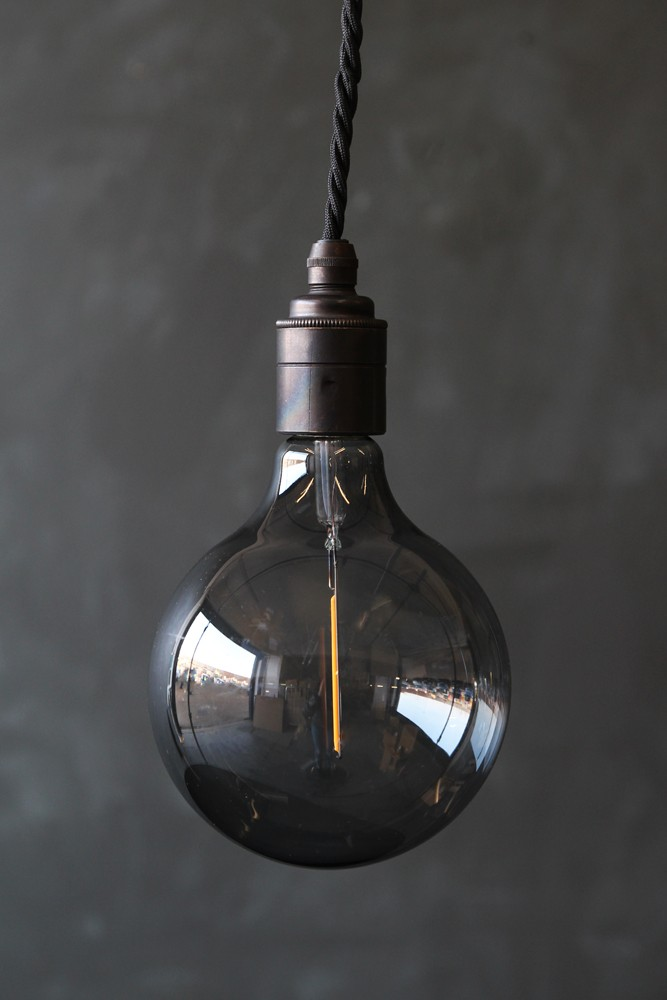 E27 led atelier smoke glass bulb large globe