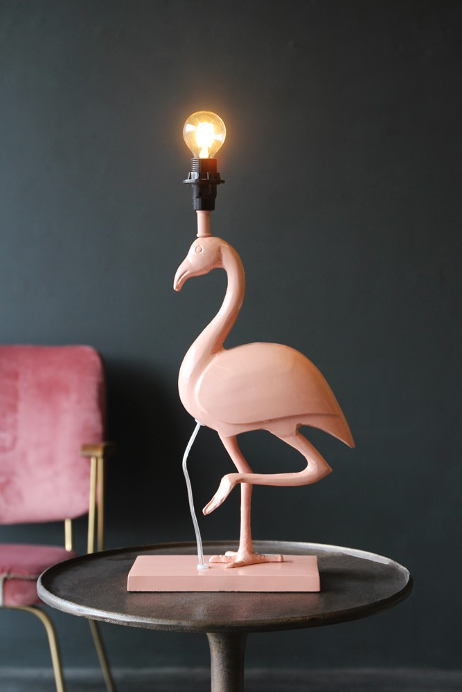 Metal Coral Flamingo Table Lamp Table Lamps All