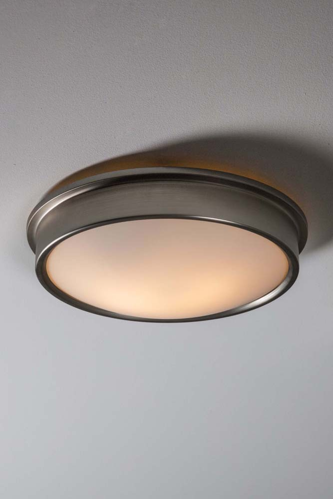 Ladbroke Satin Nickel Bathroom Ceiling Light Rockett St George