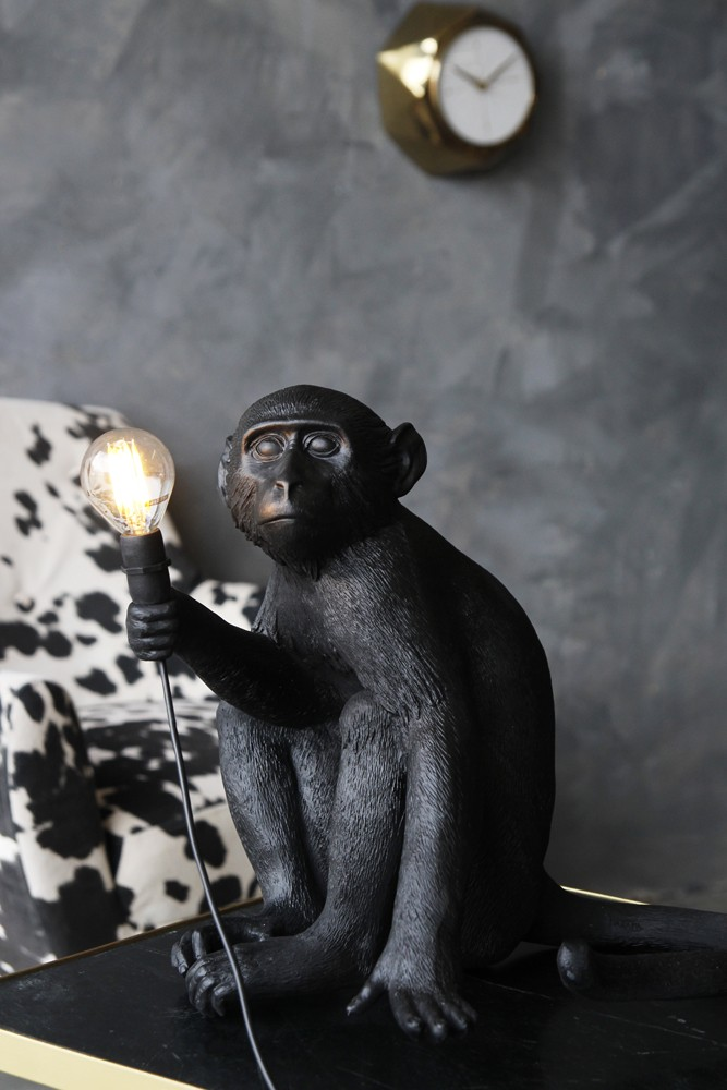 Sitting monkey table lamp black from rockett st george sitting monkey table lamp black mozeypictures