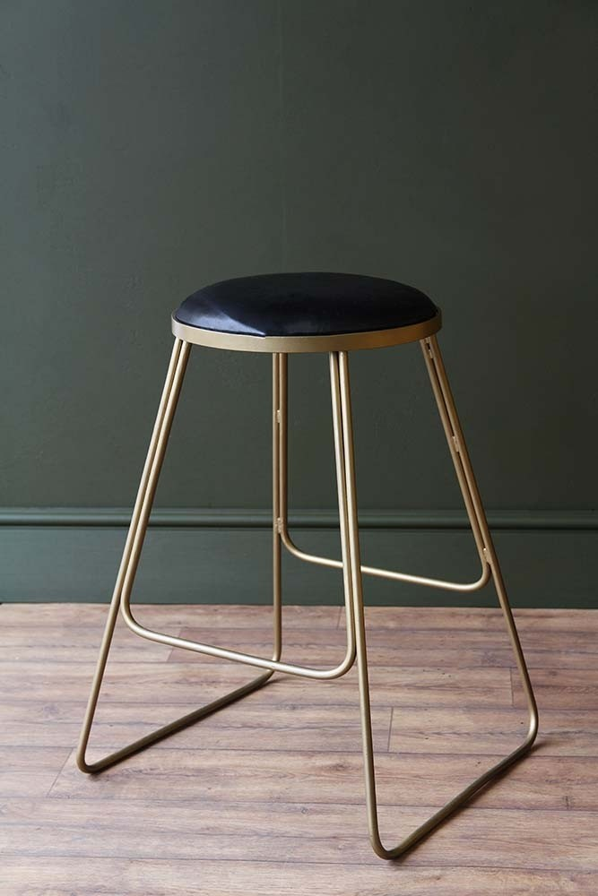 Stackable Bar Stool Black With Gold Legs From Rockett St