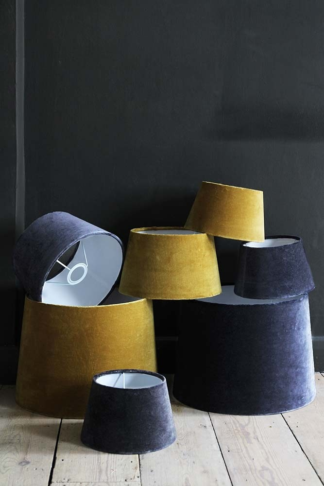 Smokey blue sumptuous velvet lampshade small from rockett st george smokey blue sumptuous velvet lamp shade small hover to zoom aloadofball Images