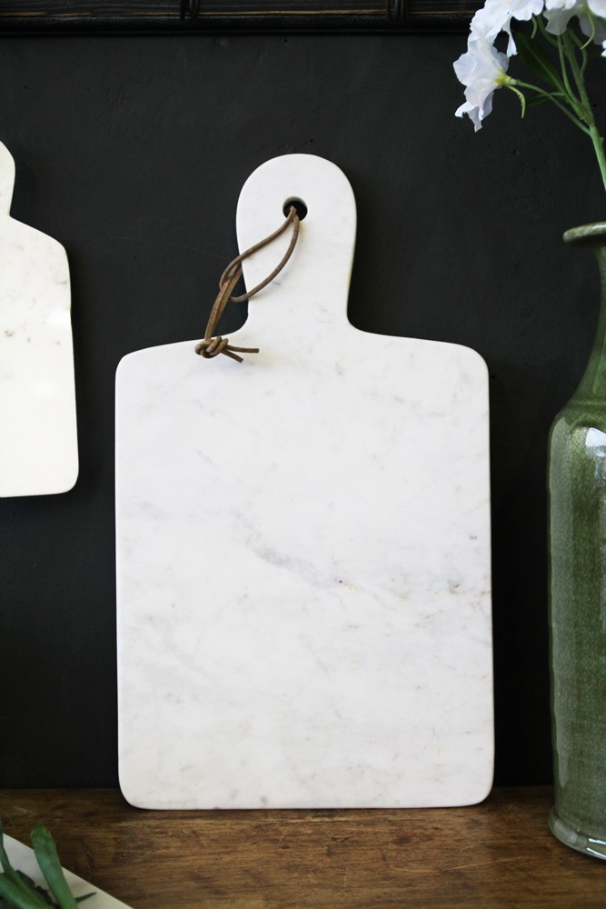 White Marble Paddle Chopping Board Available In 3 Sizes
