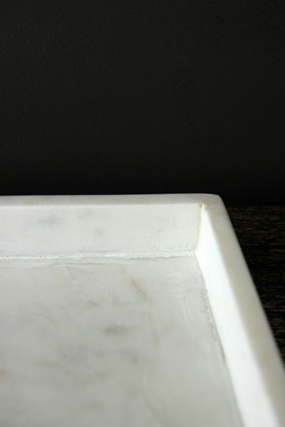 Square Marble Tray White
