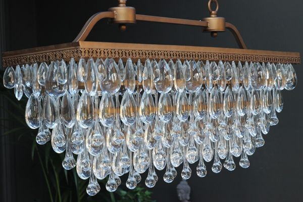 Stunning crystal droplets chandelier mozeypictures Choice Image