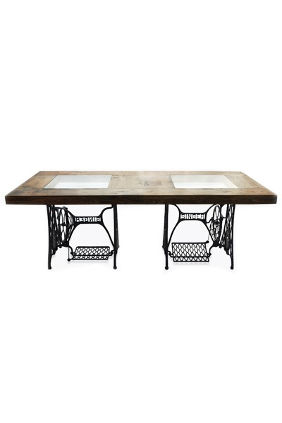 singer sewing machine wooden table