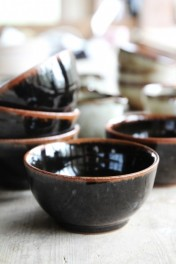 Black Jolie Stoneware Bowl