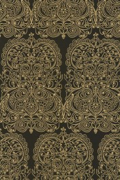 Cole & Son New Contemporary - Alpana Wallpaper - Black & Gold