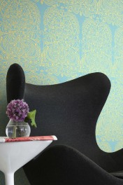 Cole & Son New Contemporary - Alpana Wallpaper - Blue & Gold