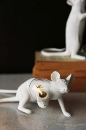 Aramis The Crouching Mouseketeer Lamp - White