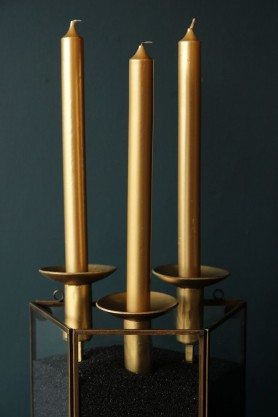 Beautiful Dinner Candles - Gold