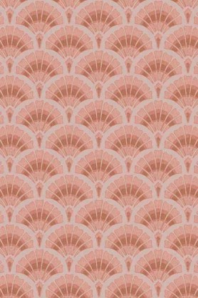 Swatch detail image of the Betsy Fan Ditsy Pink Wallpaper by Pearl Lowe