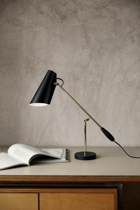 Birdy Table Lamp - Black & Brass