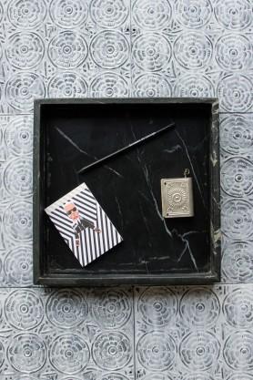 Black Square Marble Tray - 30cm x 30cm