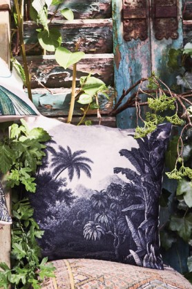 Black & White Jungle Print Cushion